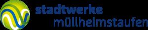 freigestelltes Logo blaue Schrift